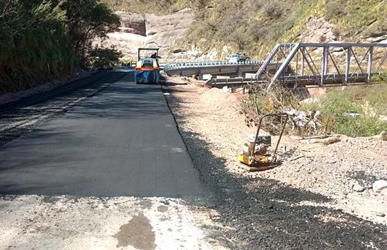 Está próximo a finalizar el primer tramo de la Ruta 33