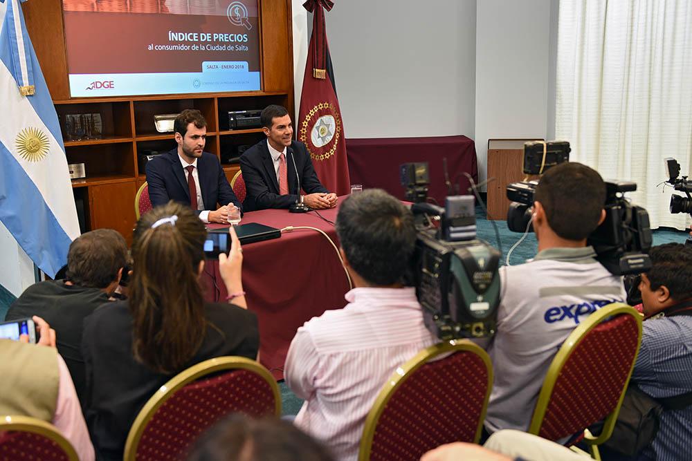 Urtubey presentó el nuevo Índice de Precios al Consumidor de la ciudad de Salta