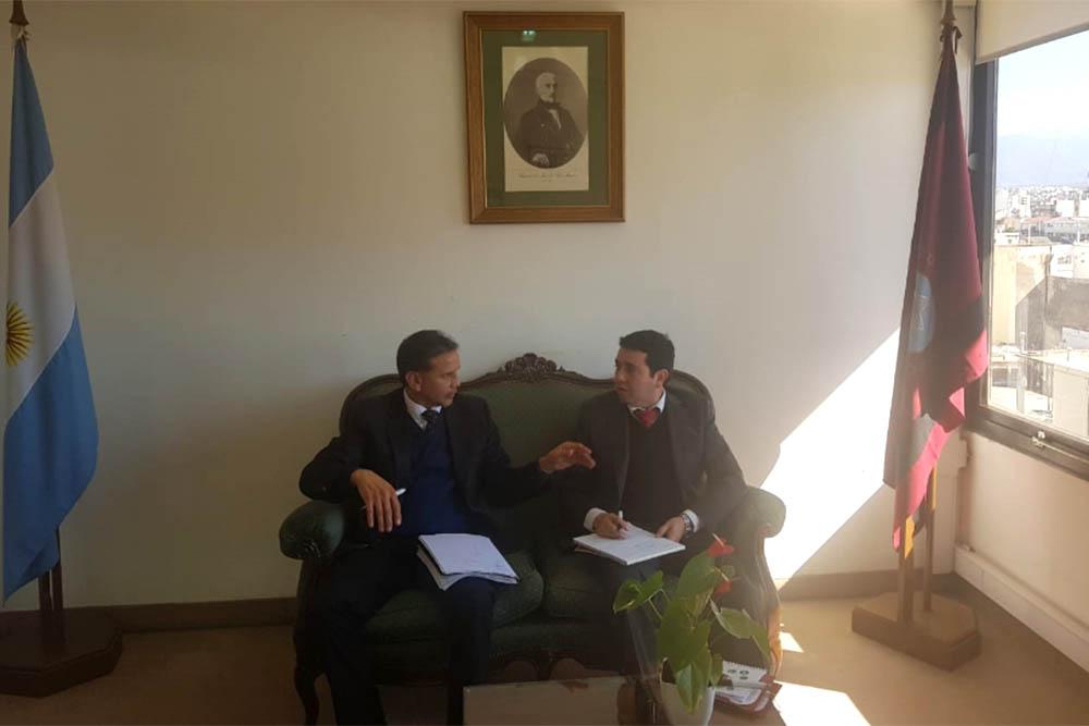 El director de Rentas se reunió con el fiscalizador tributario de Antofagasta