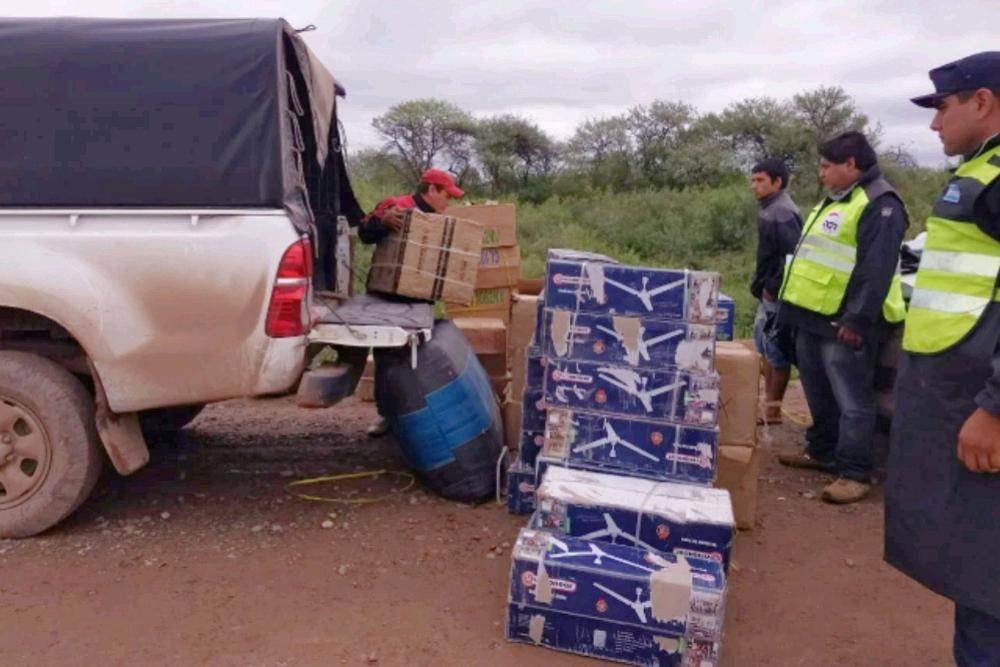 Agentes de Rentas y la Policía secuestraron mercadería ilegal en la ruta provincial 29
