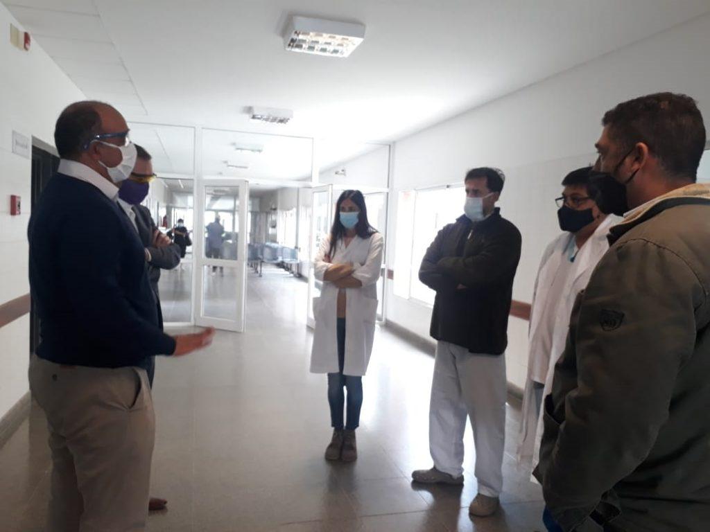 Dib Ashur fue recibido por directivos del hospital Papa Francisco