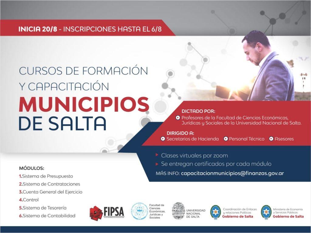 Gobierno y UNSa, iniciarán el 20 de agosto las capacitaciones a personal de los 60 municipios