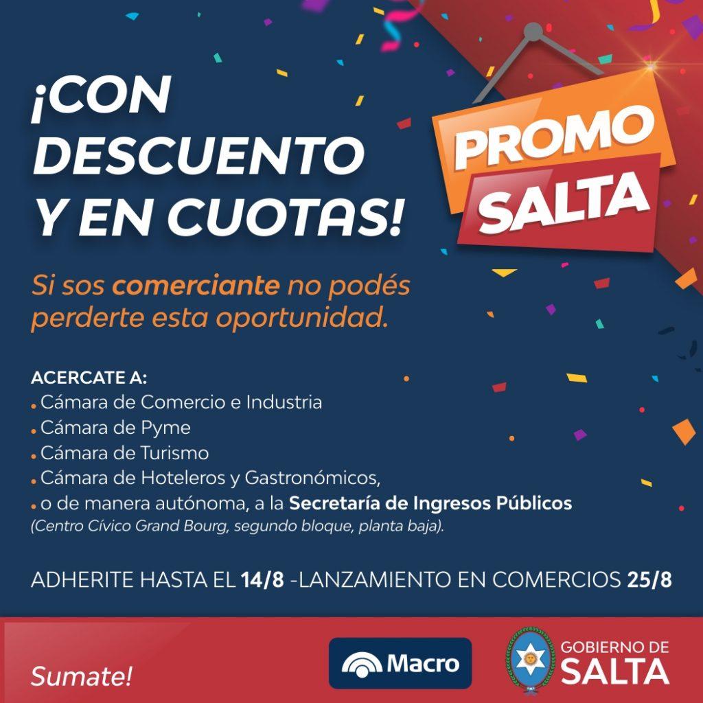 Mañana lanzará oficialmente Promo Salta que regirá en los comercios del 1º de setiembre al 31 de octubre