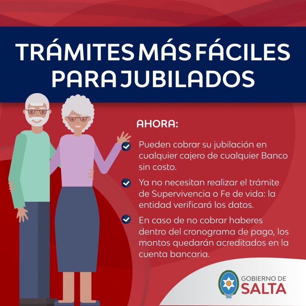 Información para jubilados y usuarios de bancos