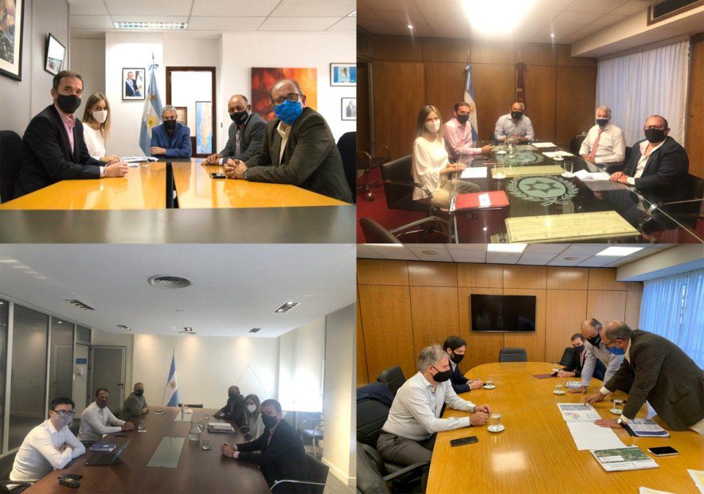 En Buenos Aires, funcionarios provinciales mantuvieron diversas reuniones con autoridades nacionales